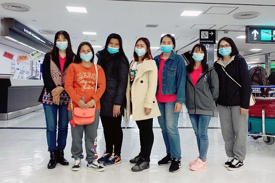 本日、無事に成田空港に特定技能1号 7名が入国しました。 2020.12.11